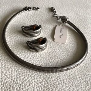 NWT CHRISTIAN DIOR  Necklace & Earring - Clips